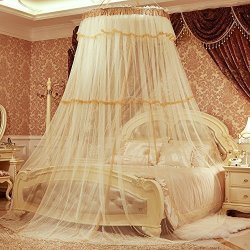 Per Enlarge Princess Dome Fantasy Netting Curtains Hanging Round Lace Canopy Play Tent Mosquito Net For Double Bed Height 270CM & Per Enlarge Princess Dome Fantasy Netting Curtains Hanging Round ...