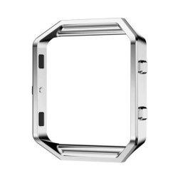 SODIAL Fitbit Blaze Smart Watch Frame - Stainless Steel Metal Watch Frame Holder Shell For Fitbit Blaze Smart Watch Silver