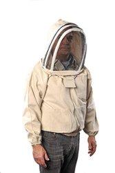 FOREST BEEKEEPING SUPPLY Ykk Brass Zippers Cotton Fencing Hood Jacket For Beekeeper Medium