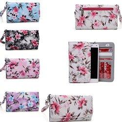 Kroo Cell Phone Wallet Phone Case Universal Design Fits: Sony Xperia M4 Aqua|sony Xperia Z3V