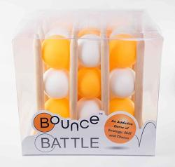 Bounce Battle Premium Wood Edition Game Set: An Addictive Game Of Strategy Skill & Chance