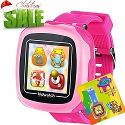 """Kidaily Smart Watches For Kids With Games Camera 1.5"""" Touch Girls Boys Activity Fitness Tracker Wristwatch Digital Timer Pedometer Alarm Sport Watch Indoor Outdoor Children"""