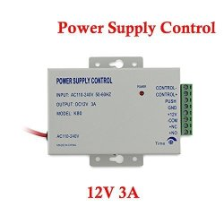 YuHan Power Supply Control For Door Access Entry System Ac 110-240V To Dc 12V 3A Worldwide Voltage