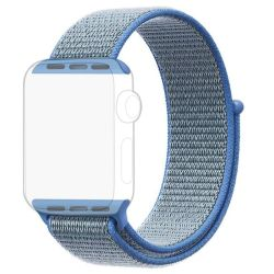 Blue Apple Watch Strap Band Nylon Loop 38 40MM - Series 1 2 3 4