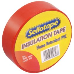 Sellotape - 10M Red Insulation Tape