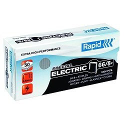 Rapid 66 8 Super Strong Staples 8MM Shank Length For 100E 105E 106E Ref 24868000 Pack Of 5000