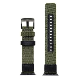 Nylon Strap For Apple Watch Compatible With 38MM & 40MM Army Green