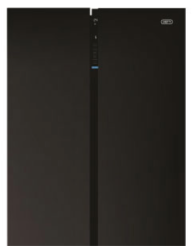 Defy DFF413 698l Black Glass Fridge