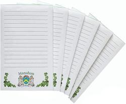 USA Manahan Irish Coat Of Arms Notepads - Set Of 6