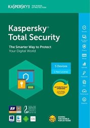 Kaspersky Total Security Software 2018 5 DEVICE 1 Year Key Code 5-USERS