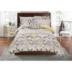 Mainstays Tribal Bed In A Bag Complete Bedding Set Machine Washable For Easy Care Twin twin XL