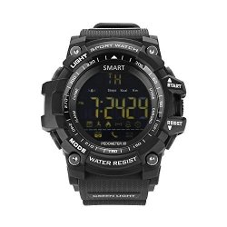 AOKII Outdoor Waterproof IP67 Bluetooth Sport Smart Watch Android Ios Smartphones Black