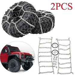 2PCS Metal Snow Anti-slip Tires Metal Steel Chain For 1 10 Rc Rock Crawler Traxxas TRX-4 TRX4 Axial SCX10 90046