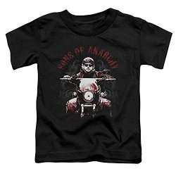 Trevco Sons Of Anarchy Tvseries Jax Ride On Soa Logo Red Tint On Black Little Boys Todt