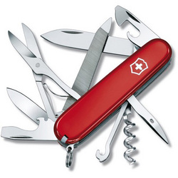 Victorinox Swiss Army 91mm Red Mountaineer Pocket Knife