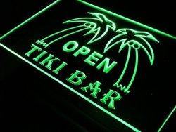 ADV PRO I179-G Open Tiki Bar Pub Decor Palm Tree New Light Sign