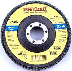 Tork Craft Flap Disc Zirconium 115mm 40grit Angled