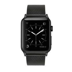 Colton James Mesh Strap For Black space Grey 38MM Apple Watch - Black