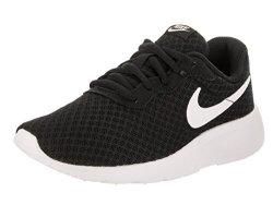 Nike Boy's Tanjun Running Sneaker 12 Little Kid M Black white white