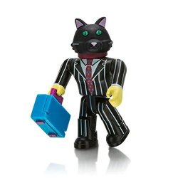 Twisted 2 Perfection Roblox Series 1 Celebrity Collection Action Figure Mystery Box + Virtual Item Code 2.5 Buisness Cat