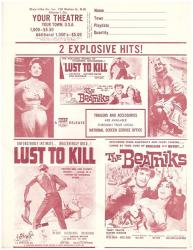 USA Lust To Kill Plus The Beatniks Double Feature Herald