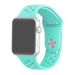 38MM Silicone Strap For Apple Watch - Frost Blue Large Plus