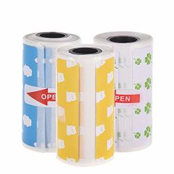 Walmeck Thermal Labels Roll Cute Cartoon Direct Printer Label Strong Adhesive Sticker Clear Printing For Peripage A6 Pocket Bt Thermal Printer 3 Rolls