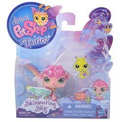 Hasbro Littlest Pet Shop Fairies Shimmering Sky Figures Sea Breeze Fairy And Ant ...