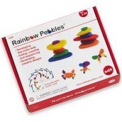 Edx Education Rainbow Pebbles Activity Set 36 Pebbles & 20 ...