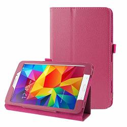 Hufan Litchi Texture Flip Leather Case With Holder For Galaxy Tab 4 7.0 T230 T231 T235 Purple 3 Color : Magenta