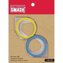 K&Company 30672734 Smash Label Maker Refills 81 2 PKG-BLUE & Yellow