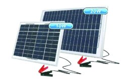 12V 10W Portable Solar Charger 359X305X18MM Acdc Solar Battery Chargers