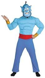 Aladdin Genie Male Muscle Costume - Adult Costumes