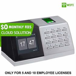 $ 0 Monthly Fees Wifi Fingerprint Clock Cloud Attendance Software Daily-weekly Overtime Lunch-break Reports Login From Anywhere Adp-paychex-qb 5 Employee License