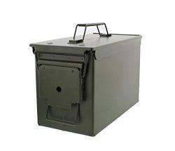 50 Cal Metal Ammo Case Can 1-PACK Long-term Shotgun Rifle Gun Ammo Military Army Solid Steel Holder Storage Box