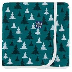 KicKee Pants Holiday Swaddling Blanket - Cedar Christmas Trees Os