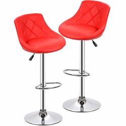 Counter Height Bar Stools Set Of 2 Barstools Swivel Bar Stool Height Adjustable Bar Chairs With Back Swivel Stool Pu Leather Kit
