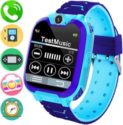Kids Music Smart Watch Phone For Student Smartwatch Sd Card Included 1.54 Inch Touch Screen Watches 2 Way Calls With Alarm Clock Camrea Game Calcul