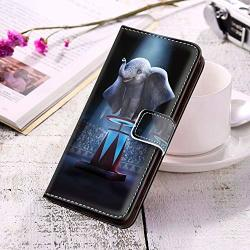 Disney Collection Wallet Case For Galaxy S10 Dumbo 2019 4K Disney Animation Leather Card Holder Stand Shockproof Bumper Protective Cover Case Sturdy