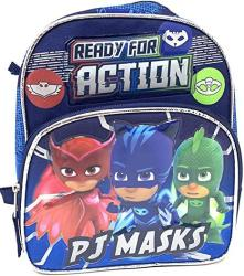 USA Pj Masks Catboy Gekko Owlette Toddler MINI 10 Inches Backpack- Ready For Action