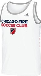 SLD Of The Adidas Group Adidas Mls Chicago Fire Men's Usa Performance Tank White Large