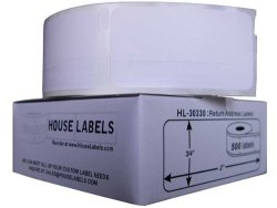 Houselabels 3 4 X 2 Inches Dymo-compatible 30330 Multipurpose Labels 1 Roll 500 Labels Per Roll