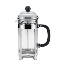 Meyer Bonjour Coffee Stainless Steel French Press With Glass Carafe 33.8-OUNCE Bijoux Black Handle