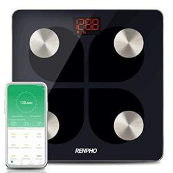 Renpho Digital Smart Bluetooth Scale USB Rechargeable Bathroom Body Fat Monitor With Ios &android Smatrphone App 396 Lbs