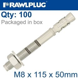 Throughbolt M8X115X50MM X100 -box