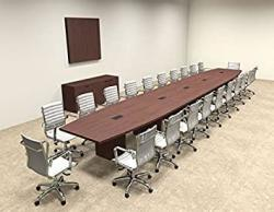 Modern Boat Shaped 24' Feet Conference Table OF-CON-C92