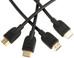 AmazonBasics High-speed HDMI Cable 3 Feet 2-PACK