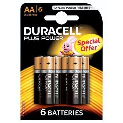 DURACELL - Plus Power Aa Batteries 6PACK