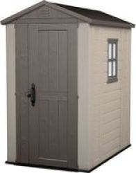 Keter - Factor 4X6 Garden Shed - Beige taupe