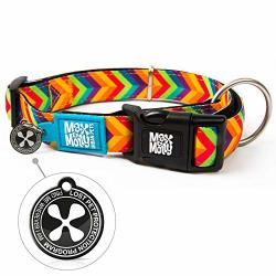Max & Molly Ultra Comfortable Padded Neoprene Sport Dog Collar With Smart Id Tag Classic Summertime S
